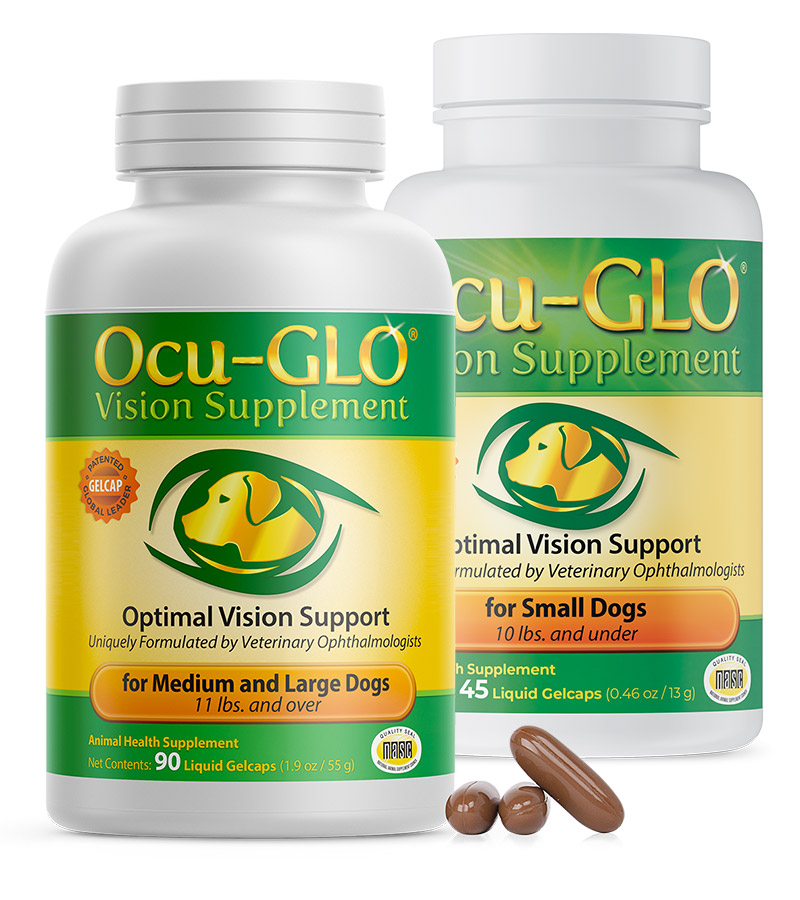 Ocu-GLO<sup>®</sup> Gelcaps for Small and Medium to Large Dogs