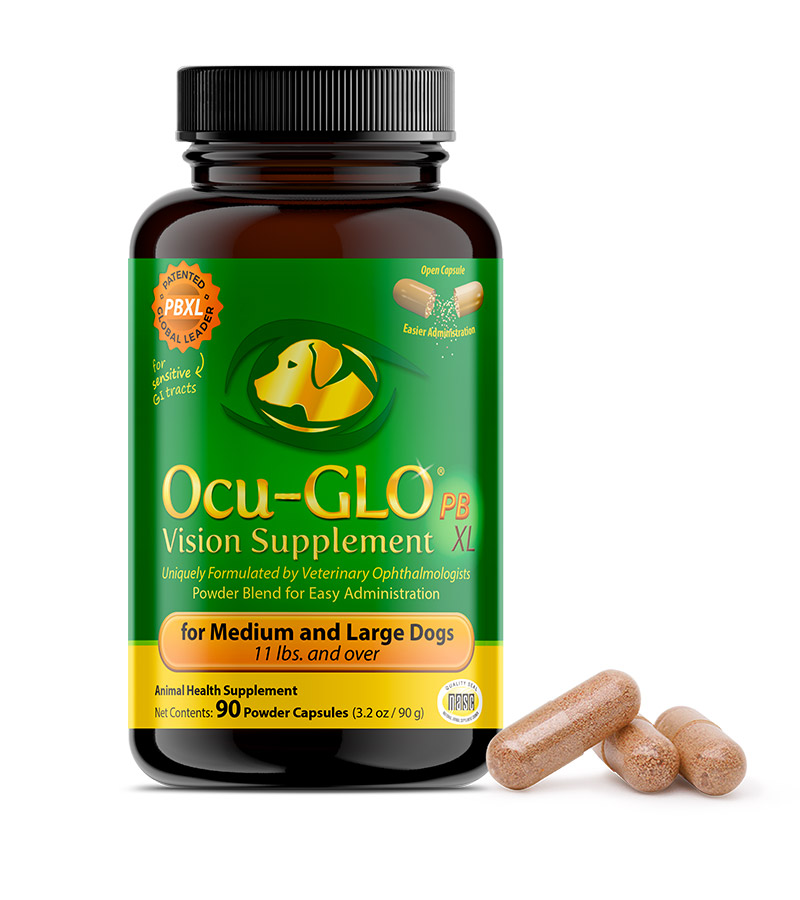 Ocu-GLO<sup>®</sup> Powder Blend XL for Medium to Large Dogs