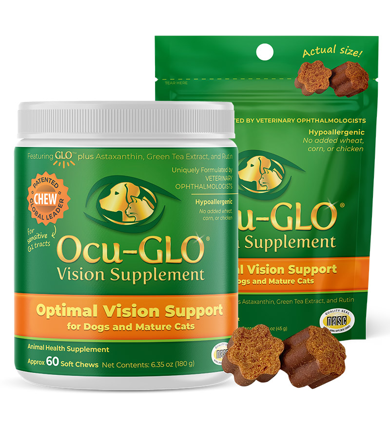 Ocu-GLO<sup>®</sup> Soft Chews for Dogs and Mature Cats